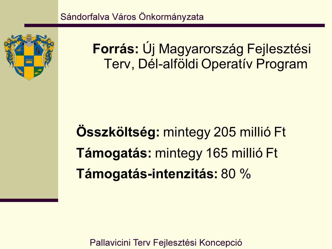 Forrás: Új Magyarország Fejlesztési Terv, Dél-alföldi Operatív Program