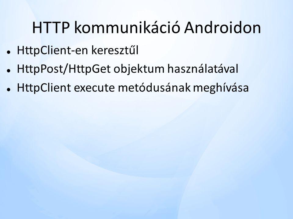 HTTP kommunikáció Androidon