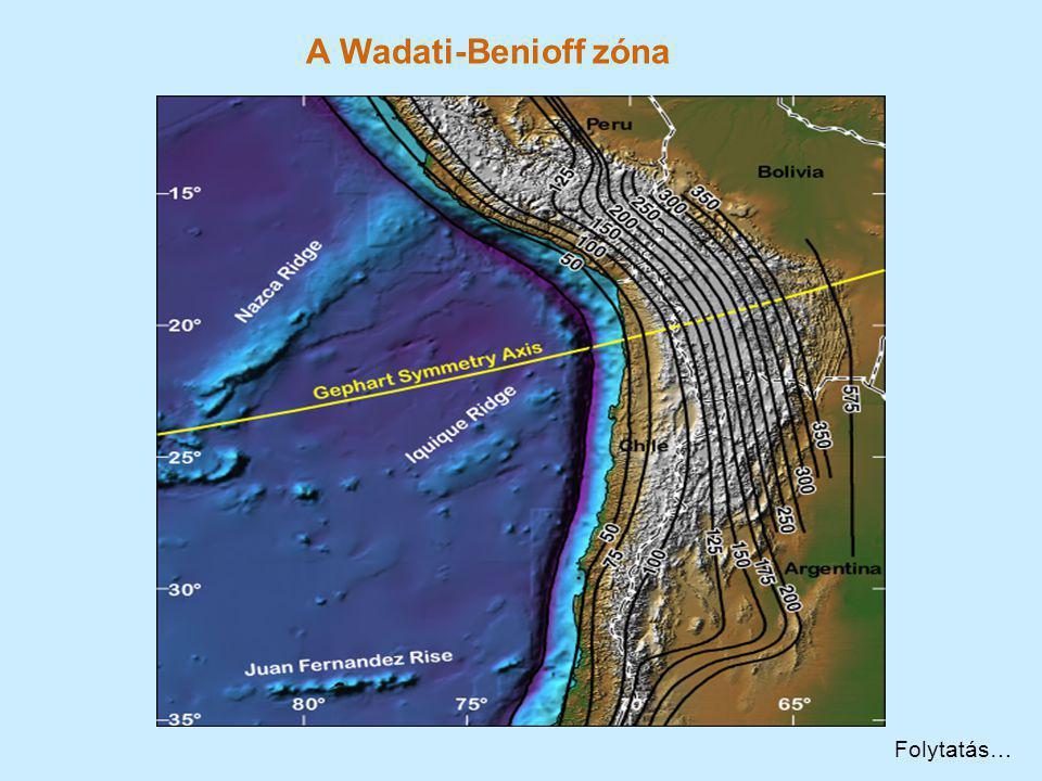 A Wadati-Benioff zóna Folytatás…
