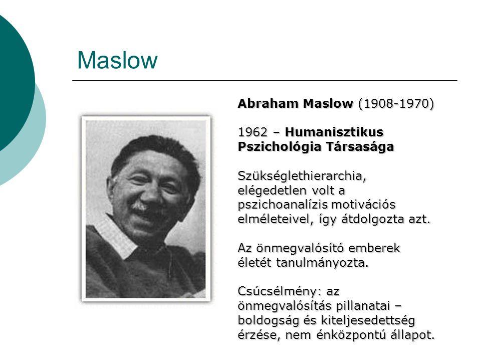 Maslow Abraham Maslow (1908-1970)