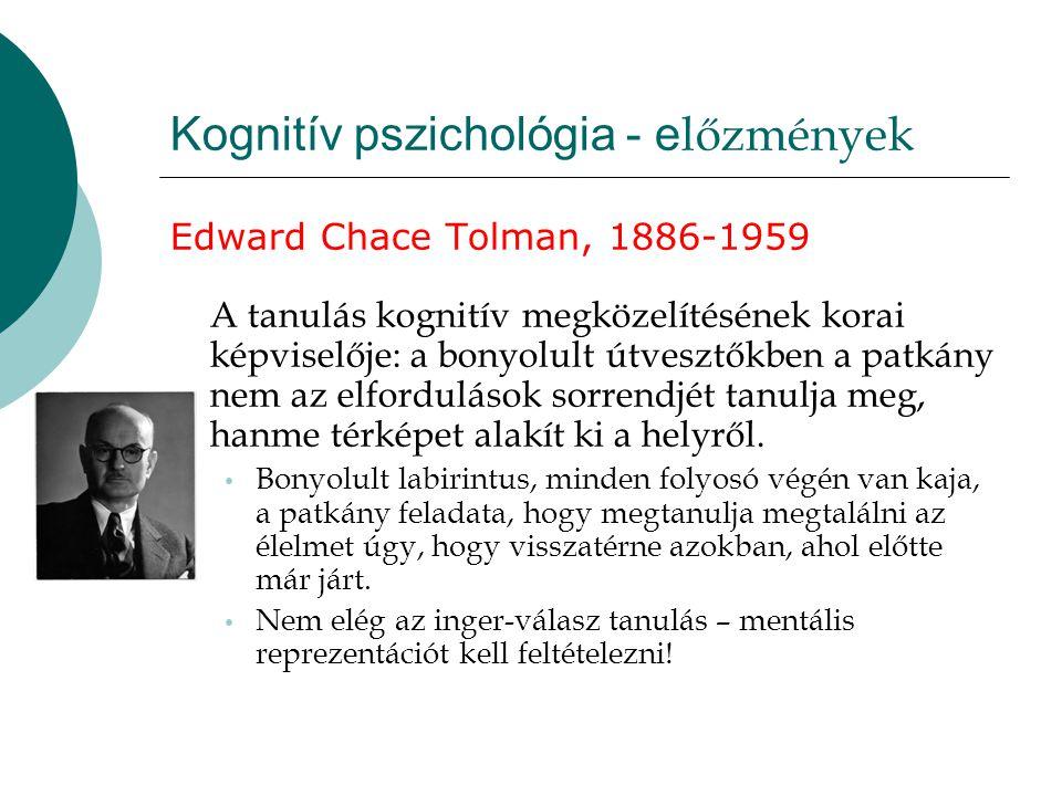 Kognitív pszichológia - előzmények