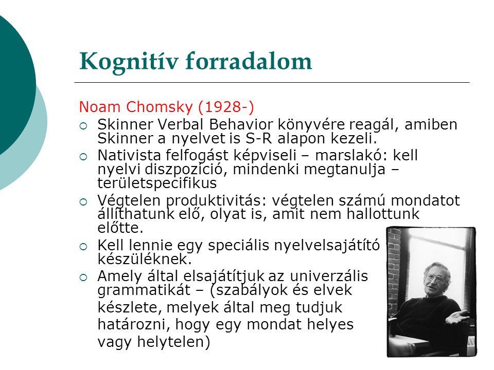 Kognitív forradalom Noam Chomsky (1928-)
