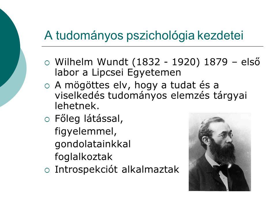 A tudományos pszichológia kezdetei
