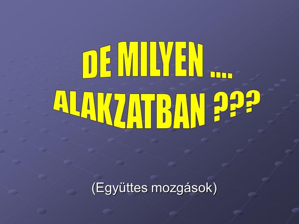 DE MILYEN …. ALAKZATBAN (Együttes mozgások)