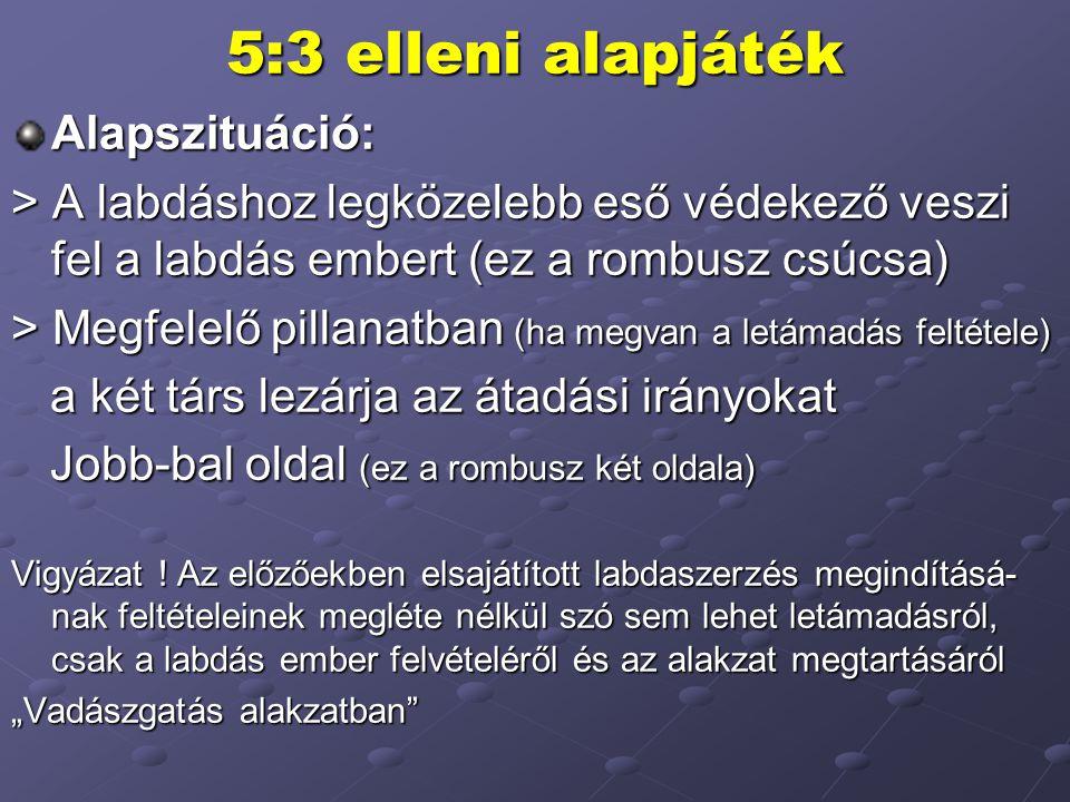 5:3 elleni alapjáték Alapszituáció: