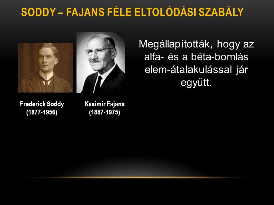 Soddy – Fajans féle eltolódási szabály