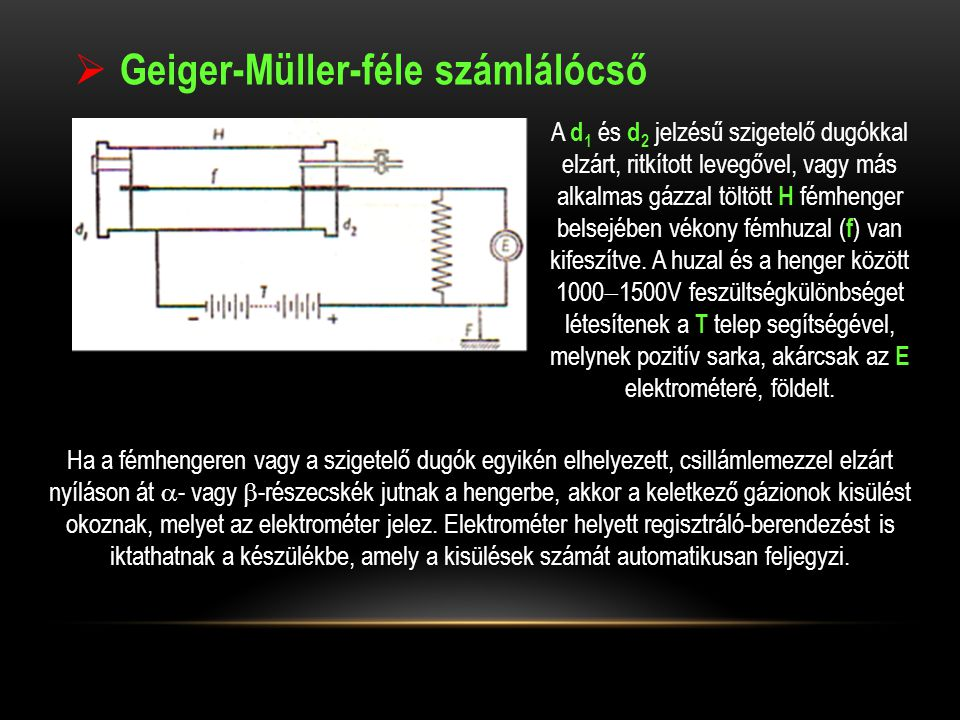 Geiger-Müller-féle számlálócső