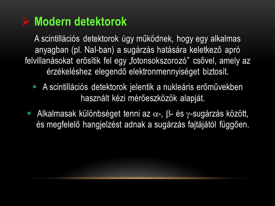 Modern detektorok