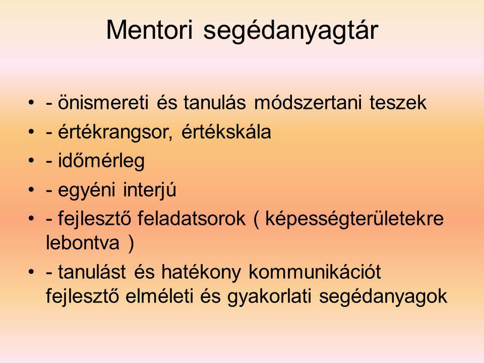 Mentori segédanyagtár