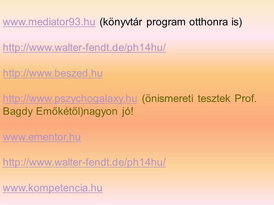 www.mediator93.hu (könyvtár program otthonra is)