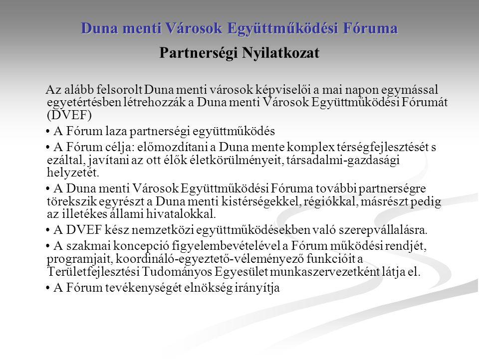 Duna menti Városok Együttműködési Fóruma