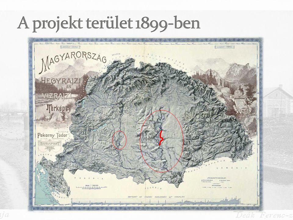 A projekt terület 1899-ben