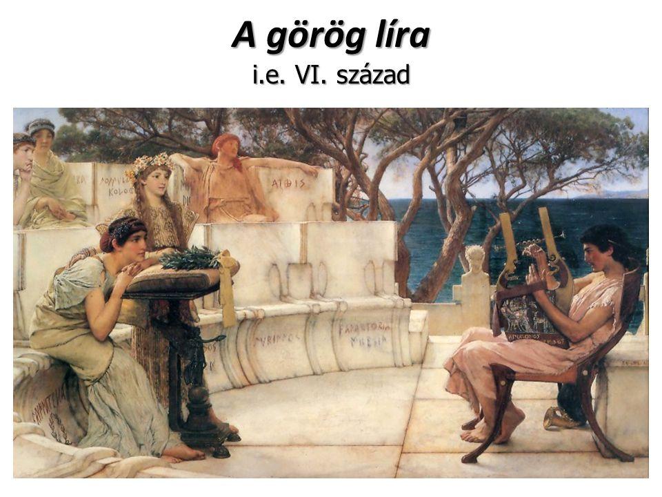 A görög líra i.e. VI. század
