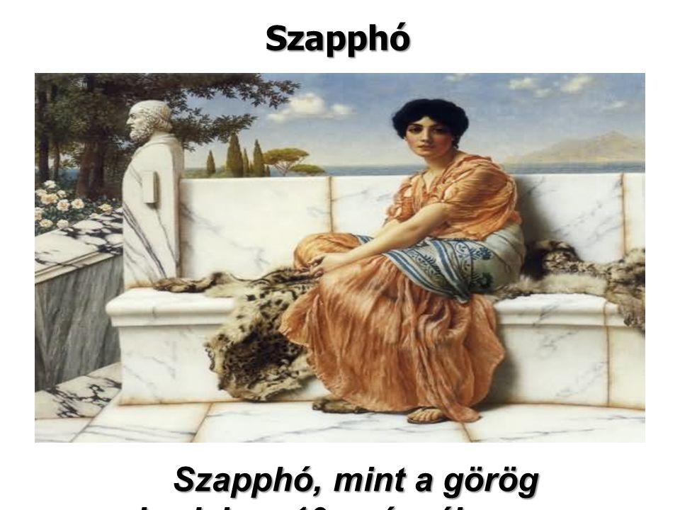 Szapphó, mint a görög irodalom 10. múzsája