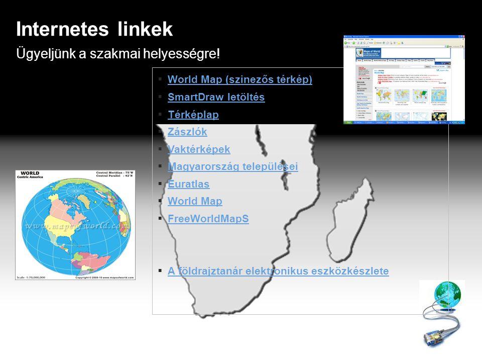 Internetes linkek Ügyeljünk a szakmai helyességre!