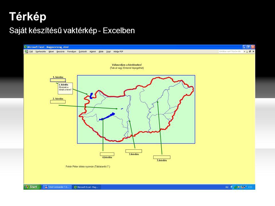 Térkép Saját készítésű vaktérkép - Excelben