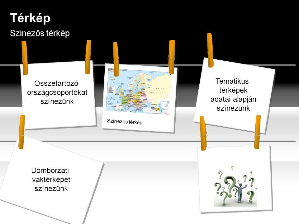 Térkép Szinezős térkép Tematikus térképek adatai alapján színezünk