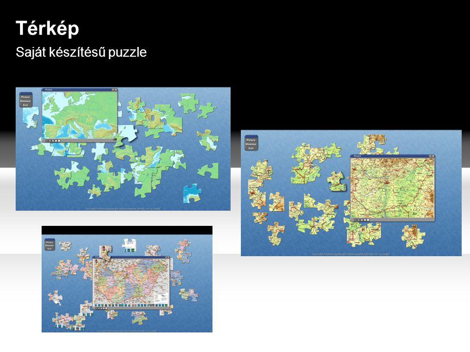 Térkép Saját készítésű puzzle
