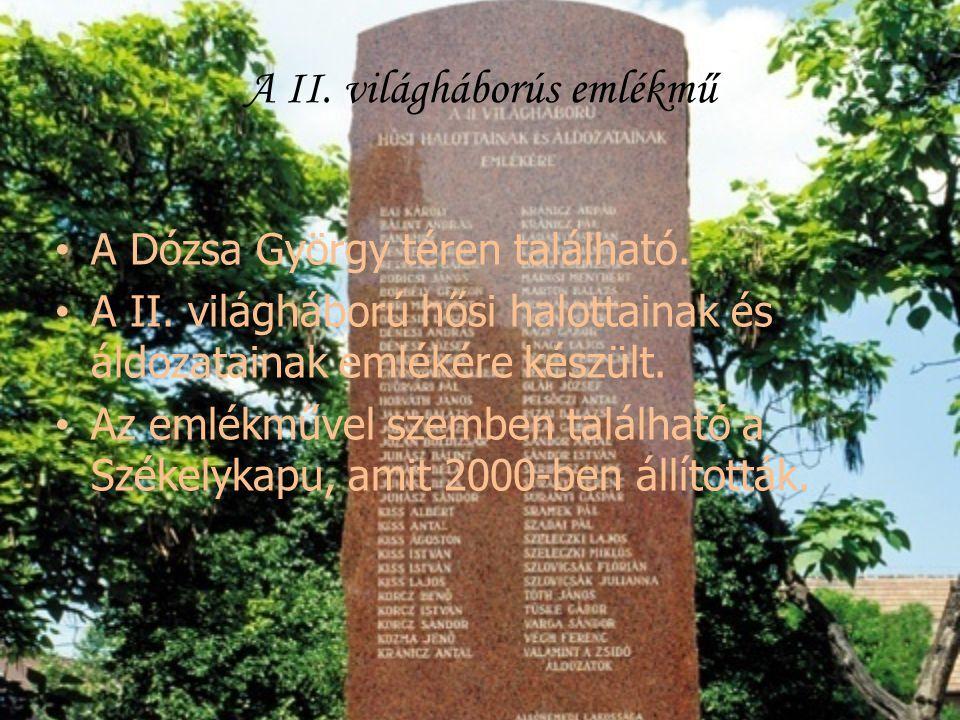 A II. világháborús emlékmű