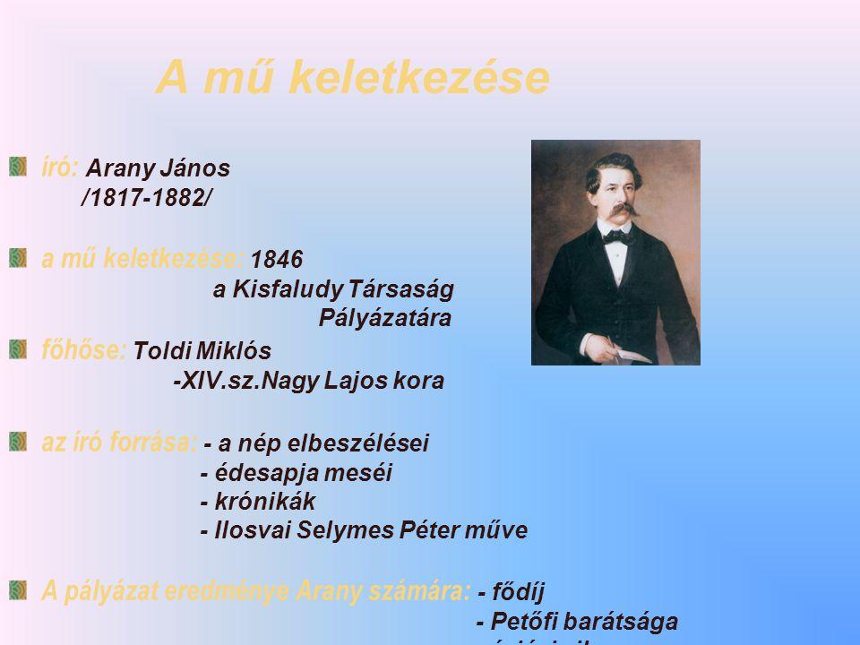 A mű keletkezése író: Arany János a mű keletkezése: 1846