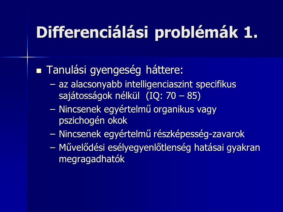 Differenciálási problémák 1.