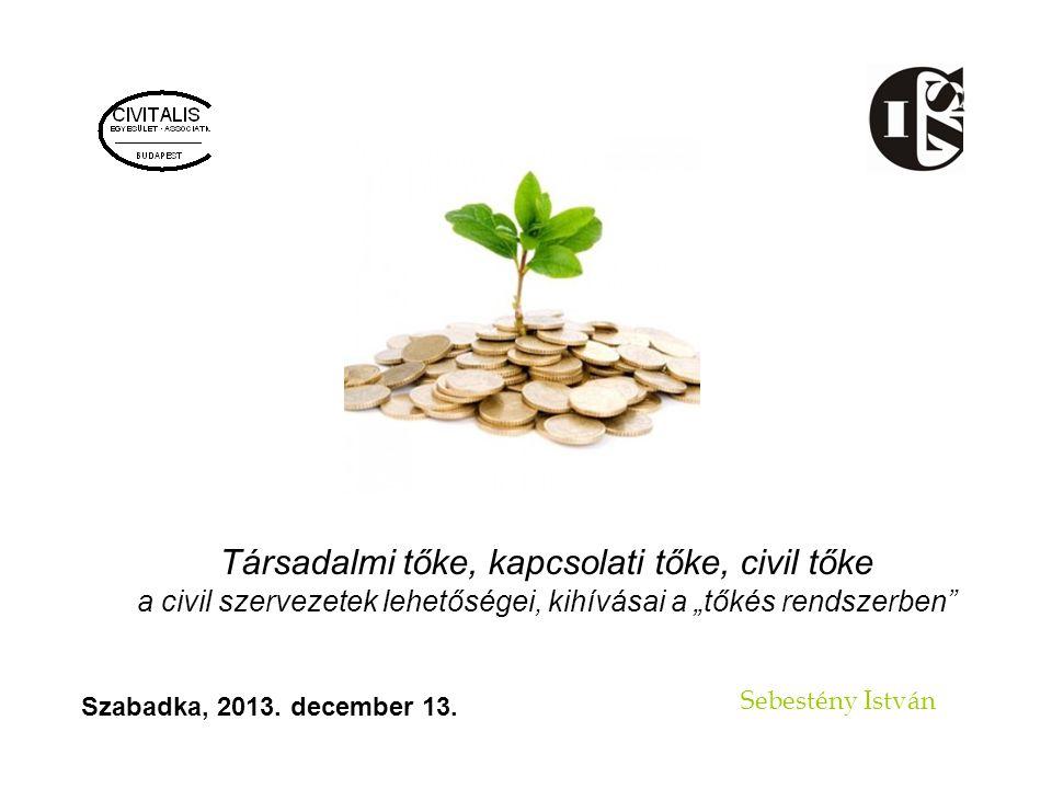 Társadalmi tőke, kapcsolati tőke, civil tőke