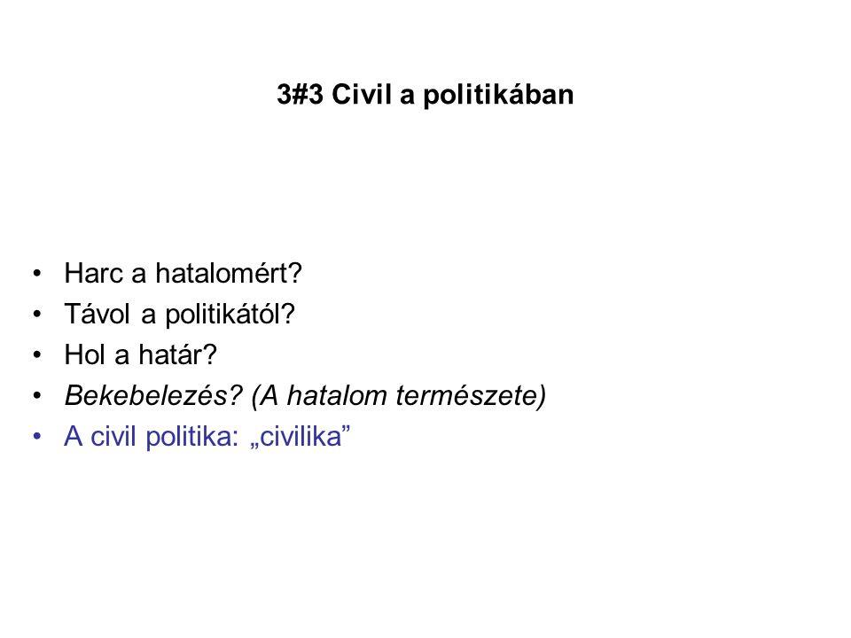 """Bekebelezés (A hatalom természete) A civil politika: """"civilika"""