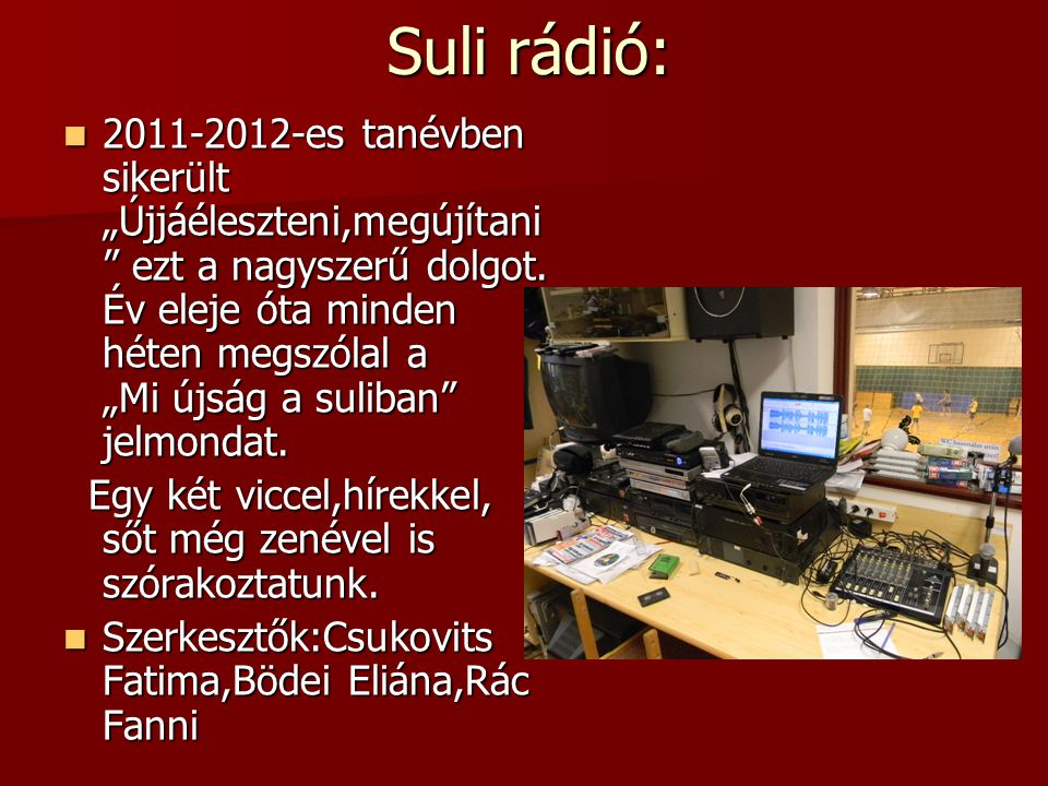 Suli rádió: