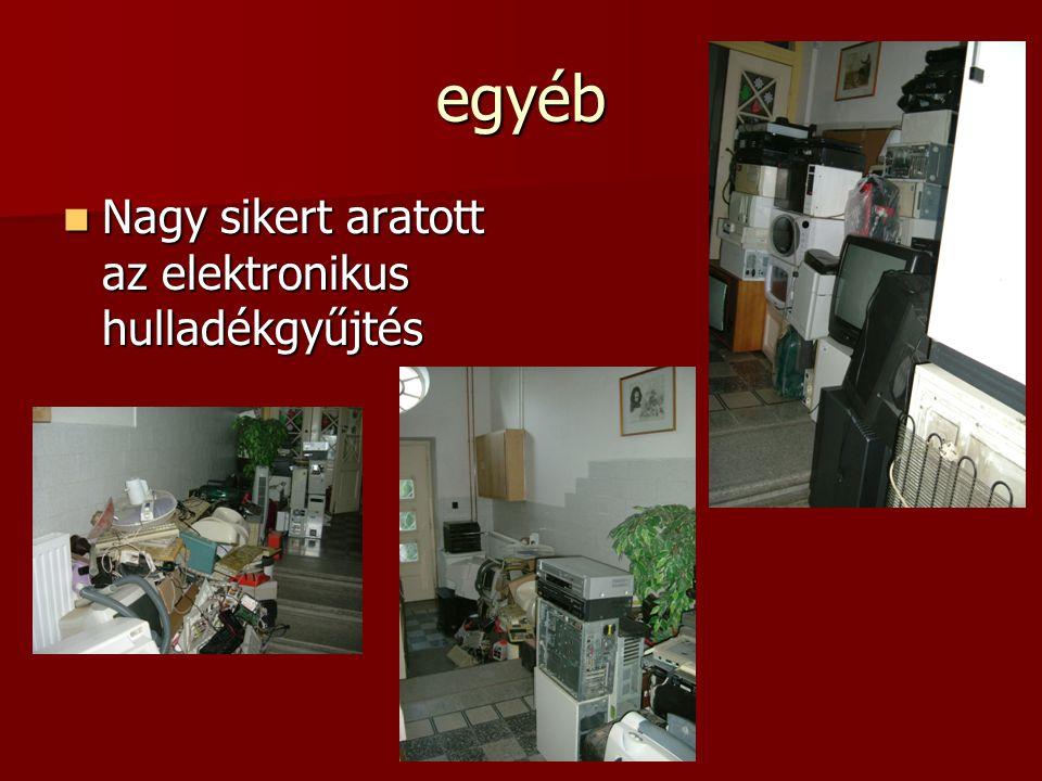 egyéb Nagy sikert aratott az elektronikus hulladékgyűjtés