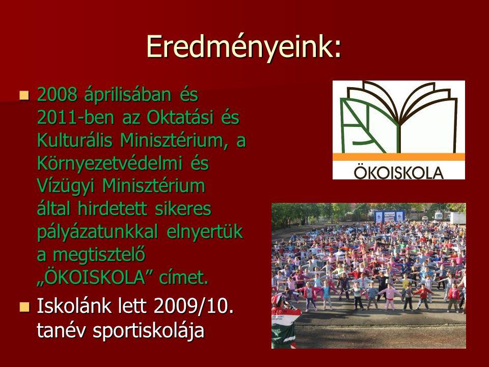 Eredményeink: Iskolánk lett 2009/10. tanév sportiskolája