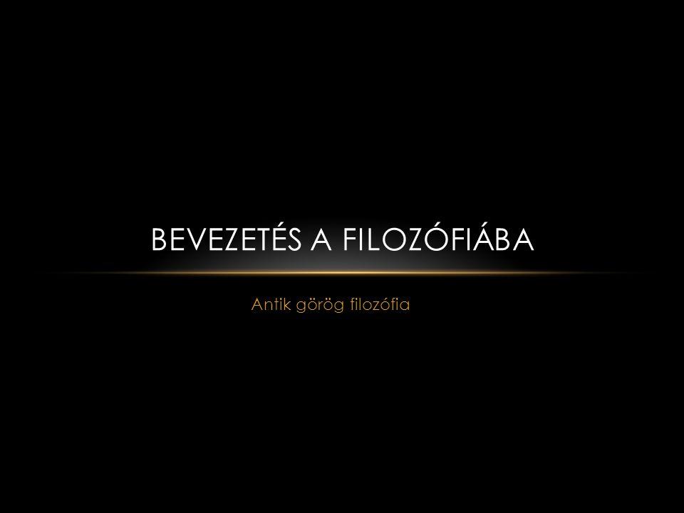 BEVEZETÉS A FILOZÓFIÁBA