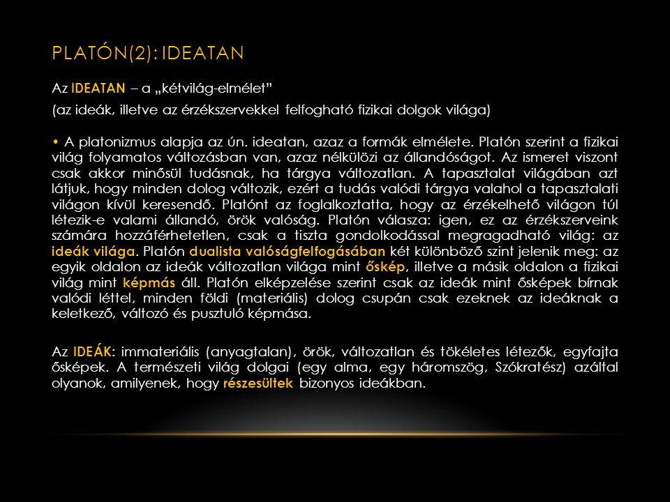 PLATÓN(2): IDEATAn