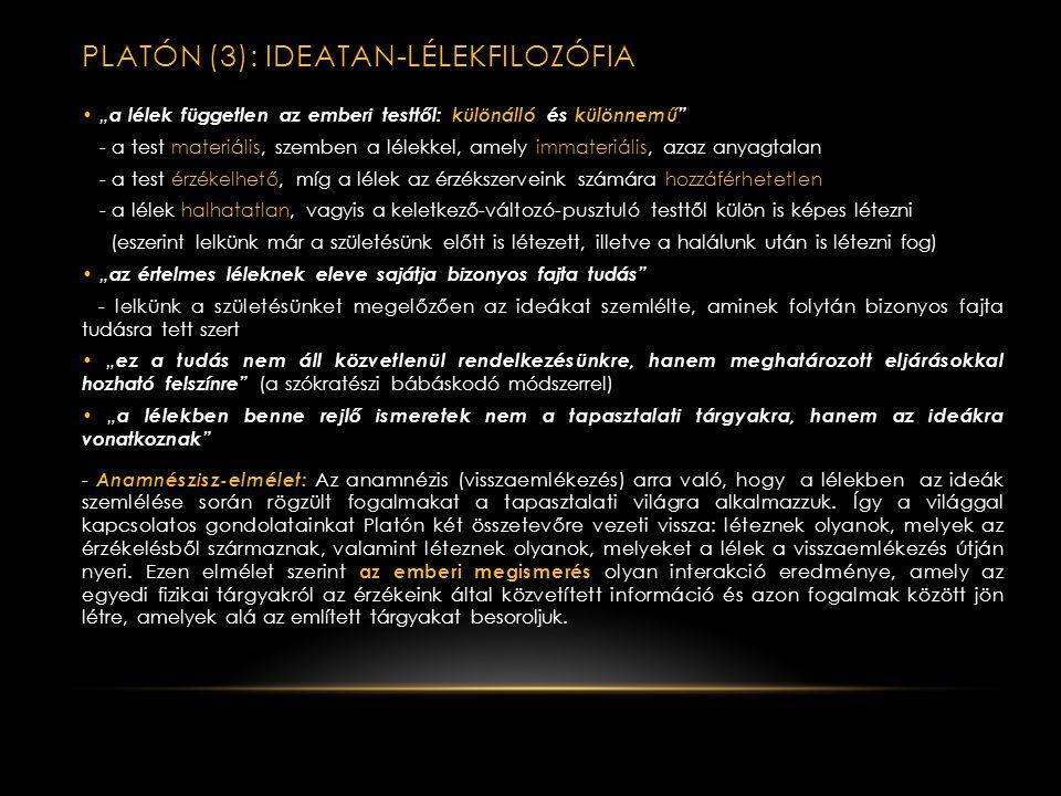 PLATÓN (3): IDEATAn-lélekfilozófia