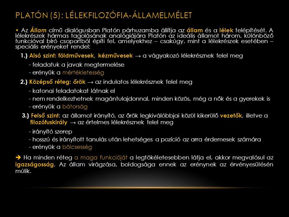 Platón (5): lélekfilozófia-államelmélet