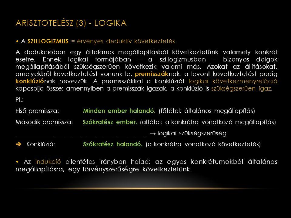 Arisztotelész (3) - logika