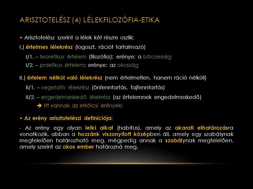 Arisztotelész (4) lélekfilozófia-etika
