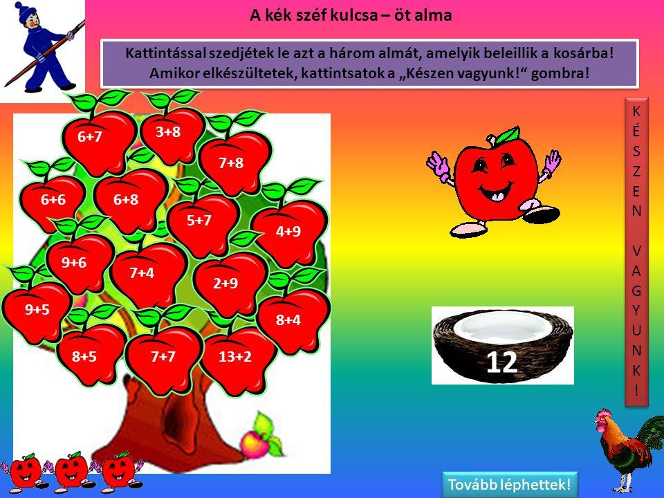 12 A kék széf kulcsa – öt alma
