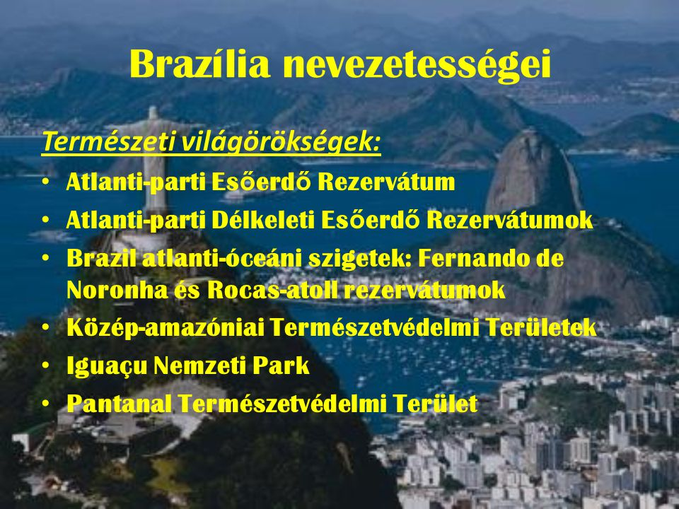 Brazília nevezetességei