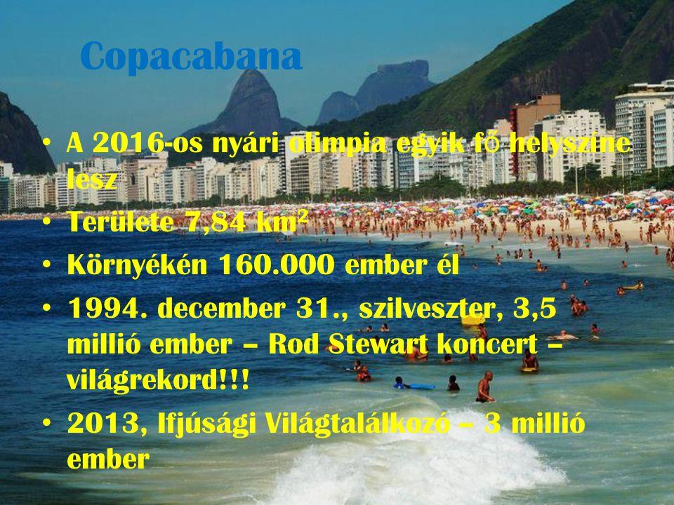 Copacabana A 2016-os nyári olimpia egyik fő helyszíne lesz
