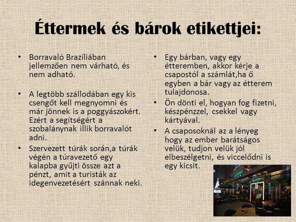 Éttermek és bárok etikettjei:
