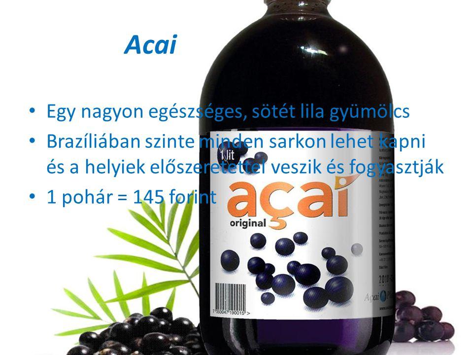 Acai Egy nagyon egészséges, sötét lila gyümölcs