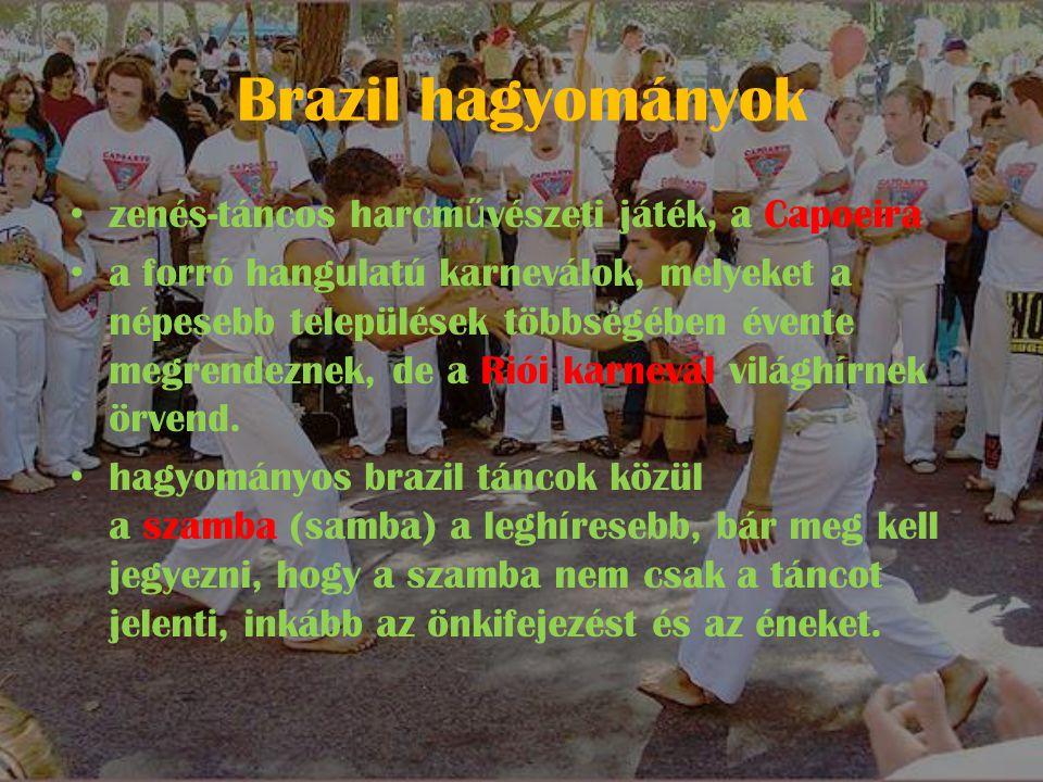 Brazil hagyományok zenés-táncos harcművészeti játék, a Capoeira