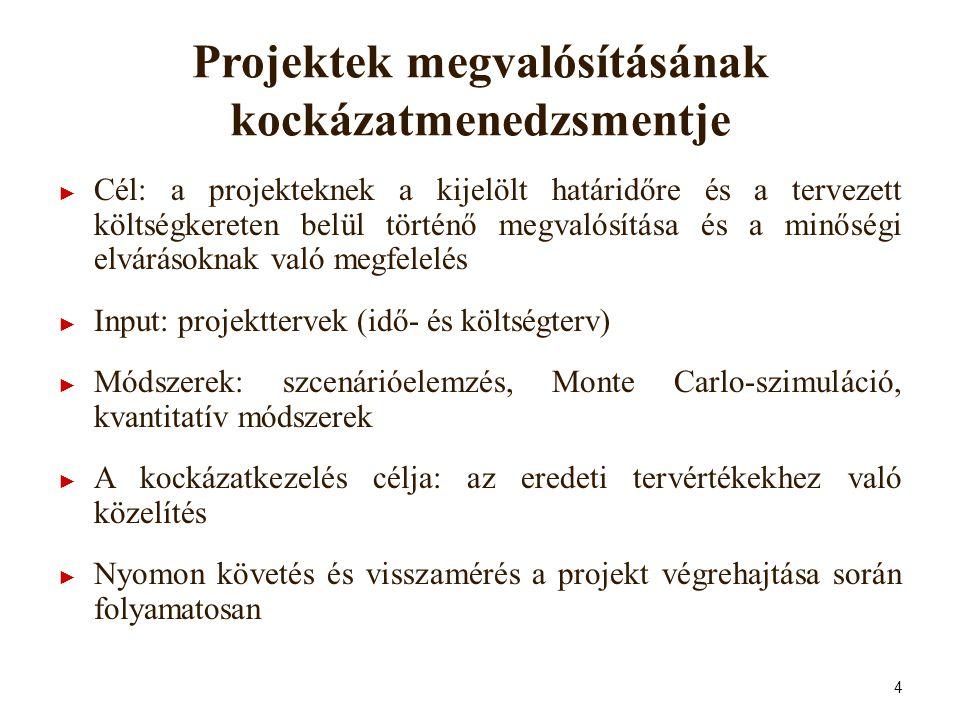 Projektek megvalósításának kockázatmenedzsmentje