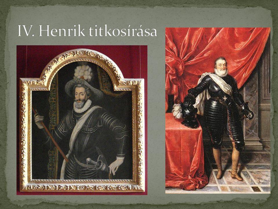 IV. Henrik titkosírása