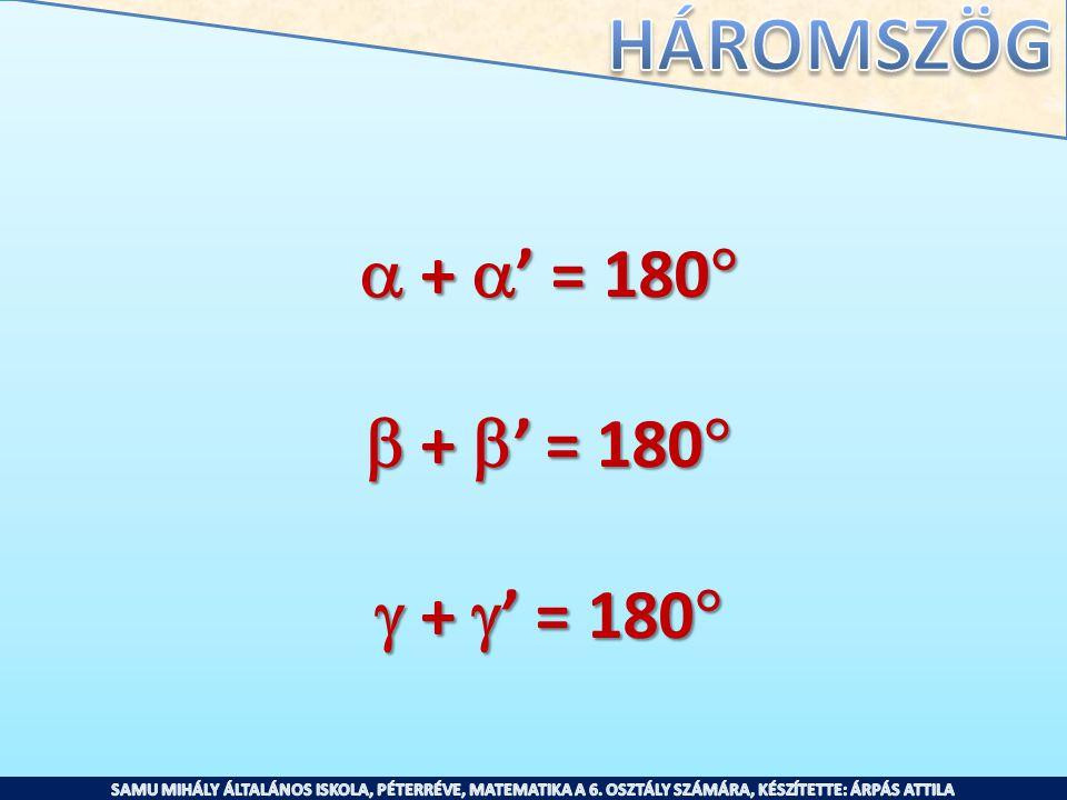  + ' = 180  + ' = 180  + ' = 180