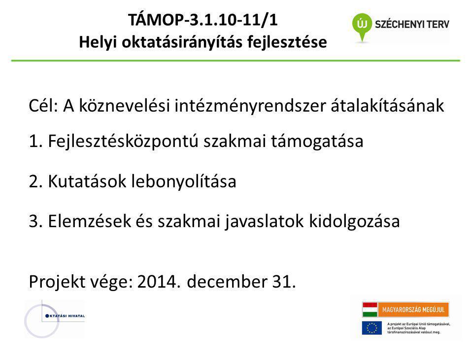 TÁMOP-3.1.10-11/1 Helyi oktatásirányítás fejlesztése