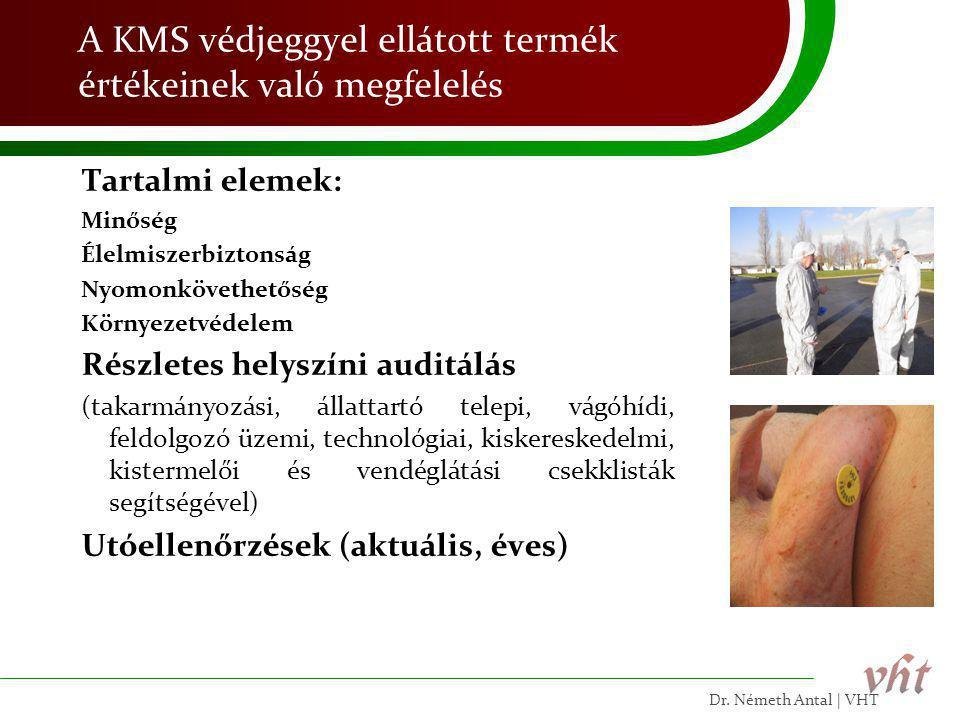 A KMS védjeggyel ellátott termék értékeinek való megfelelés