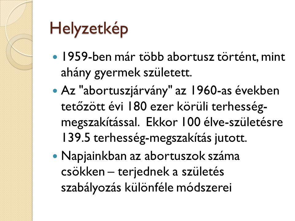 Helyzetkép 1959-ben már több abortusz történt, mint ahány gyermek született.