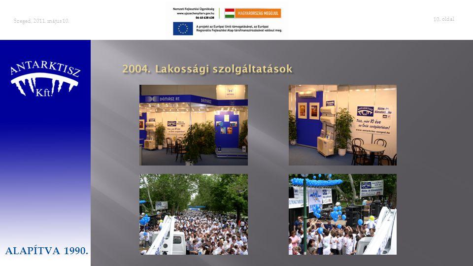 2004. Lakossági szolgáltatások