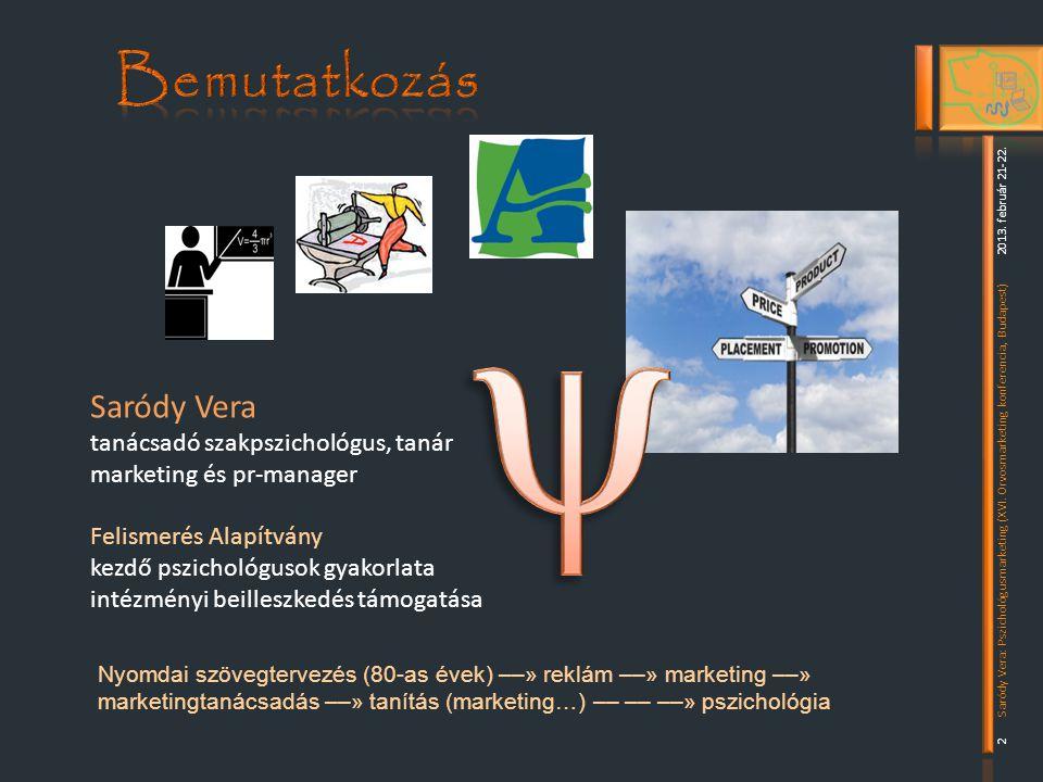 y Bemutatkozás Saródy Vera tanácsadó szakpszichológus, tanár